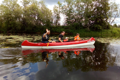 Kanuuga Pärnu jõele