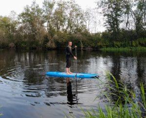 SUP aerulauaga Pärnu jõel